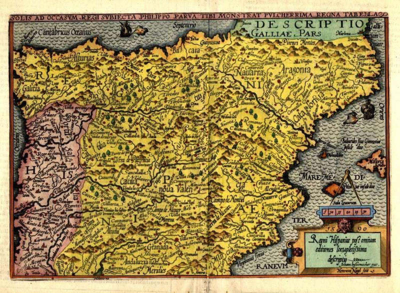 SOLD Regni Hispaniae possomium editiones locupletissima descriptio
