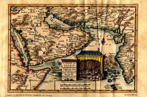 SOLD De kusten van Arabie het Roode Meer en Persize Zee