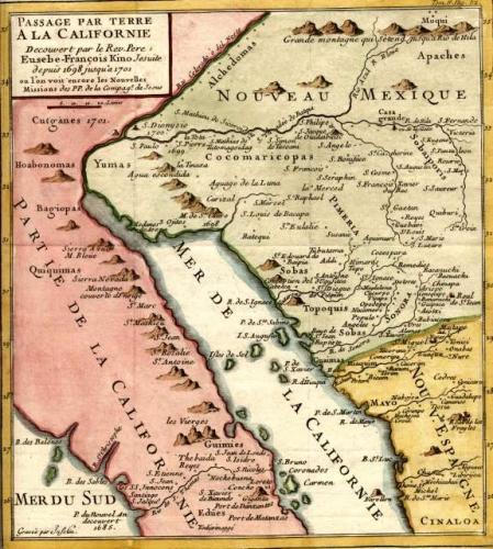SOLD Passage Par Terre A la Californie Decouvert par le Rev. Pere Eusebe-Francois Kino Jesuite
