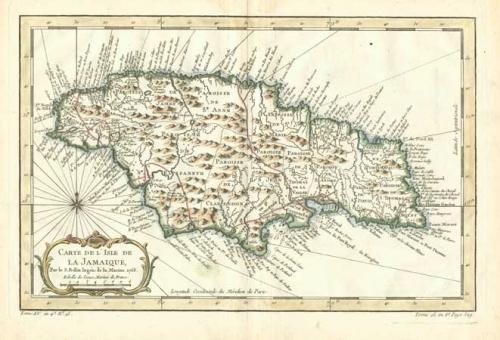 SOLD Carte de L'Isle de La Jamaique