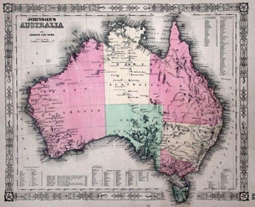 SOLD Johnson's map of Australia