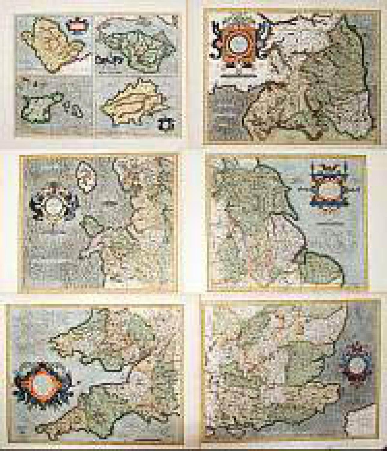 SOLD [6 maps] Set of maps of England and islands