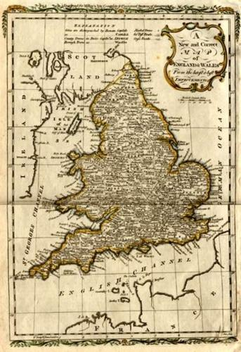 SOLD A New and Correct Map of England & Wales