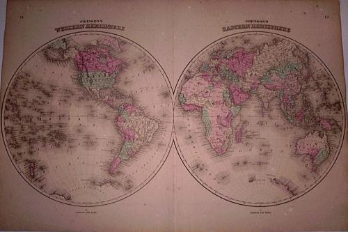 SOLD Johnson Map - World