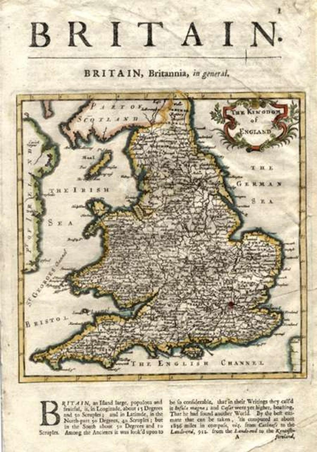 SOLD The Kingdom of England.