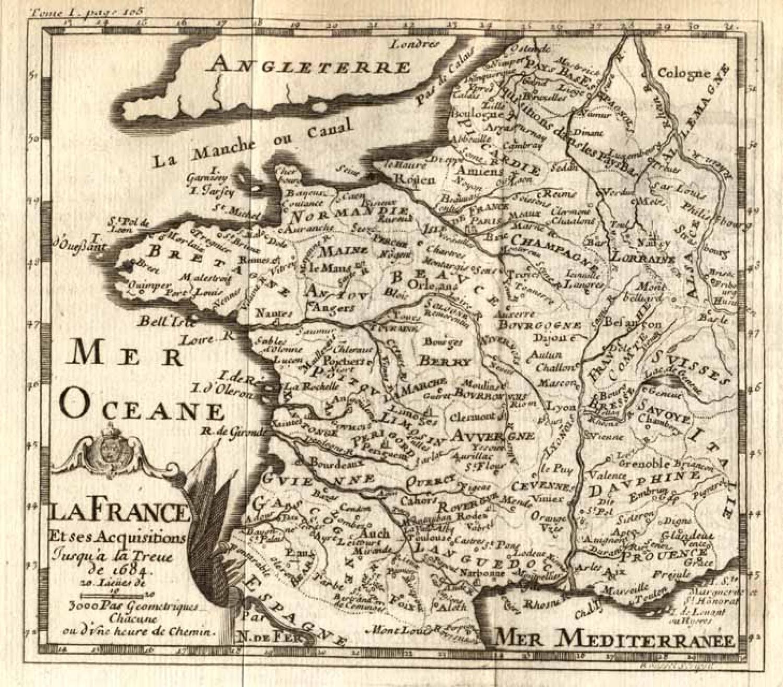 SOLD La France et ses acquisitions jusqu'a la Treve de 1684