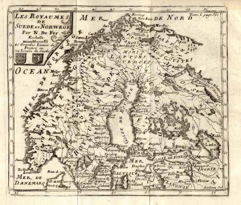 SOLD Les Royaumes de Suede et Norwege