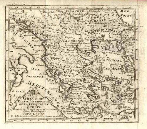 SOLD Grece ou partie meridionale de la Turquie en Europe