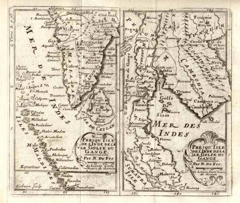 SOLD Presqu' Isle de L'Inde Deca Le Golfe de Gange and Prequ'Isle de  L'Inde dela le Golfe du Gange