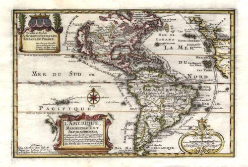 SOLD L'Amerique Meridionale et Septentrionale