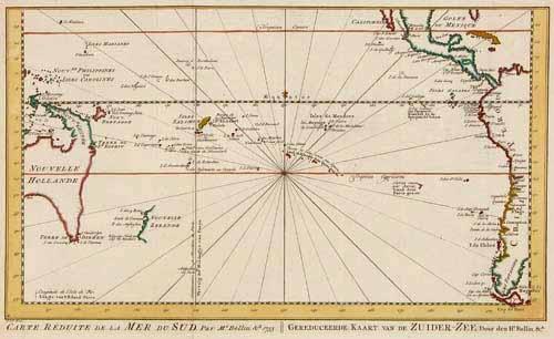 SOLD Carte Réduite de la Mer du Sud, par Mr. Bellin