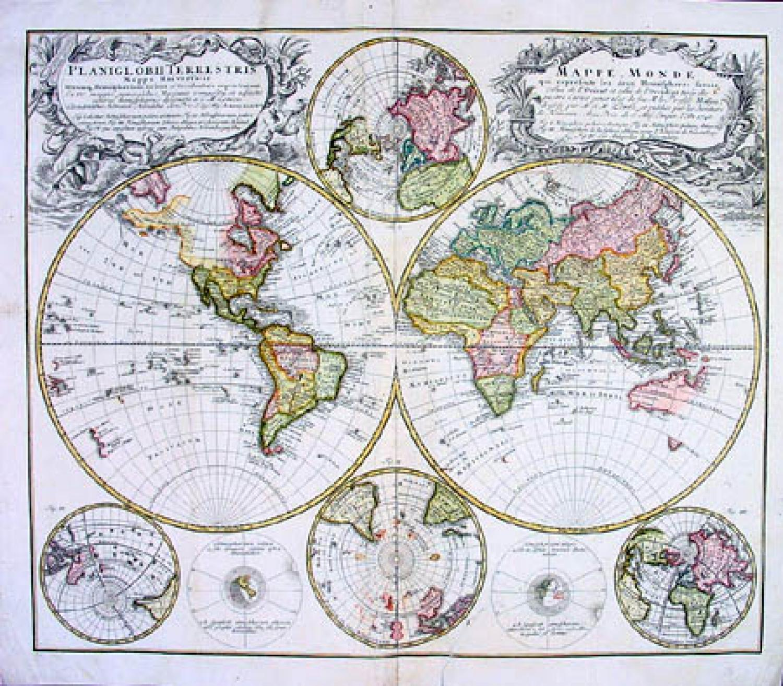 SOLD Planiglobii Terrestris Mappe Monde