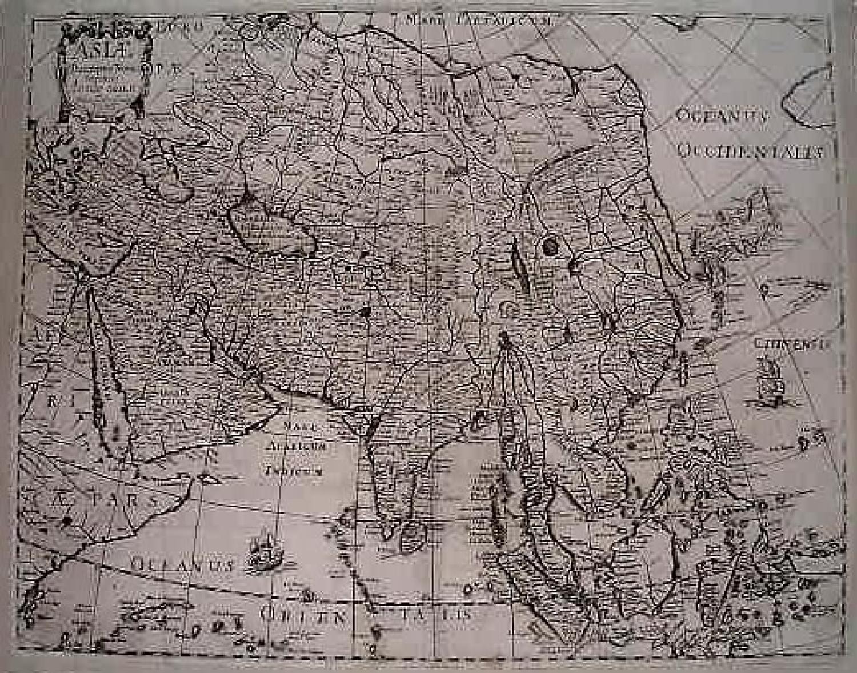 SOLD Asiae descriptio nova Impensis Anae Seile, 1663, Johan Goddard, sculp