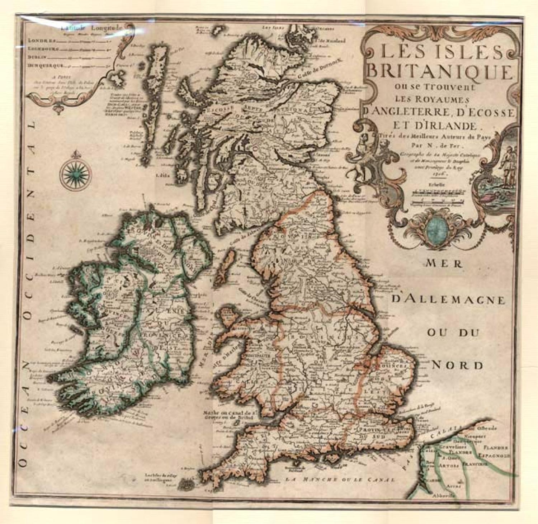 SOLD Les Isles Britanique ou se Trouvent les Royaumes d'Angleterre, d'Ecosse et d'Irlande