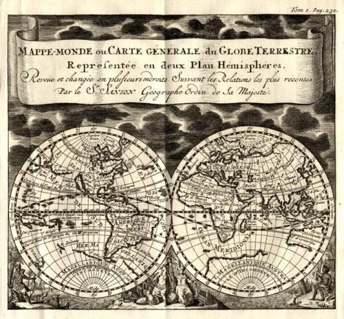 SOLD Mappe Monde ou Cart Generale du Globe Terrestre