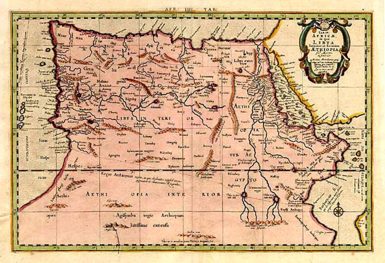 SOLD Tab. IV Africae in qua Libya Interior et Exterior. Aethiopia sub Aegypto et Interior