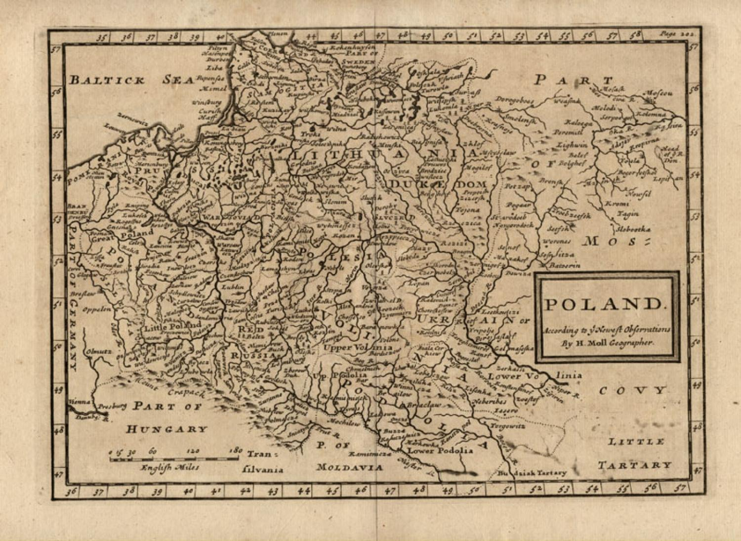 SOLD Poland according to the newest observations by Herman Moll Geographer.