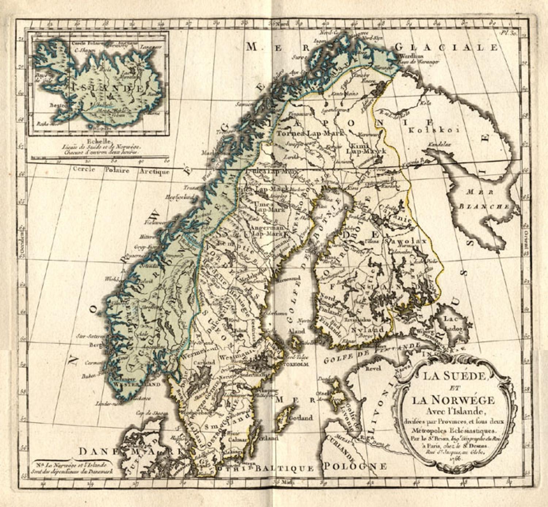 SOLD La Suede et la Norwege avec L'Islande