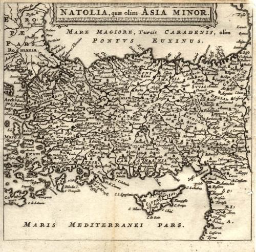 Cluver - Natolia, quae olim Asia Minor