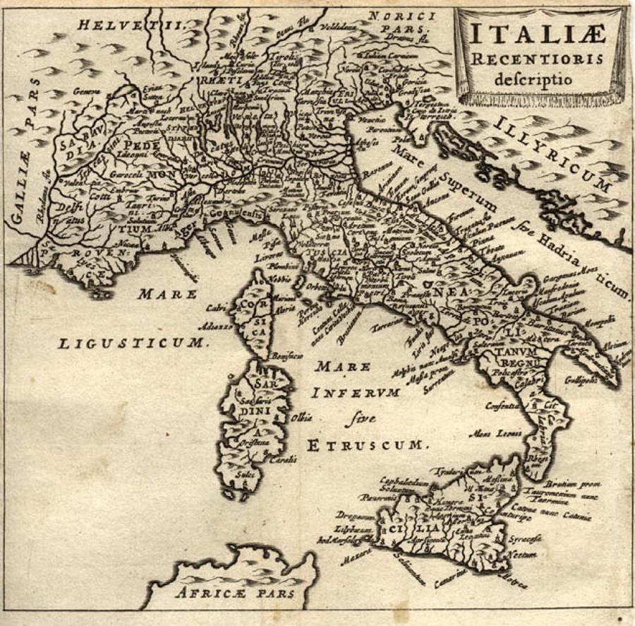 Cluver - Italiae recentioris descriptio