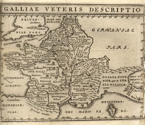 Cluver - Galliae Veteris Descrtio