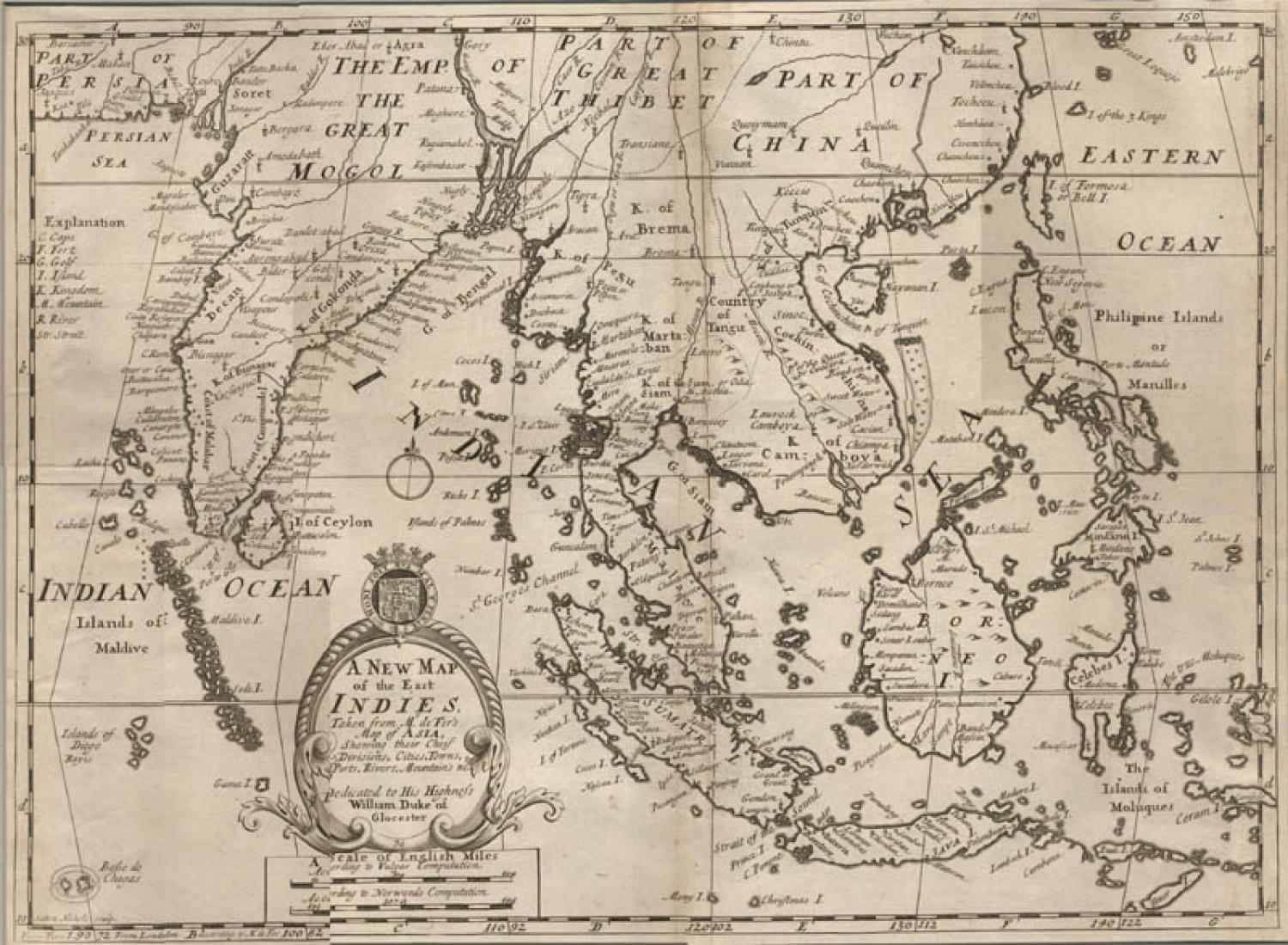 SOLD A New Map of the East Indies...