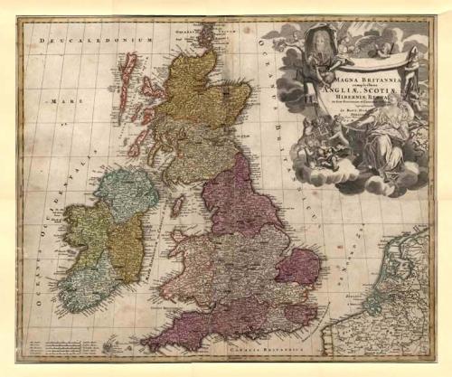 SOLD Magna Britannia complectens Angliae, Scotia, et Hibernia.