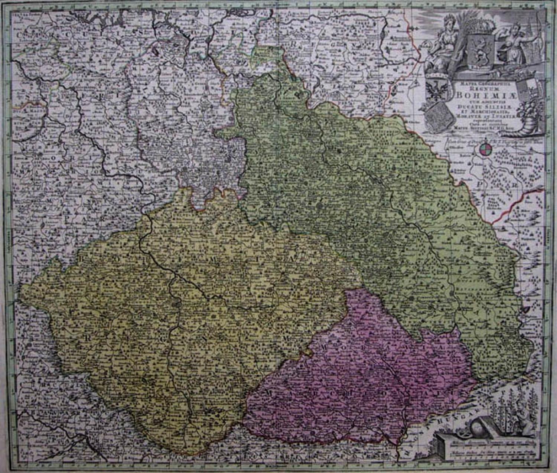 SOLD Mappa Geographica Regnum Bohemiæ