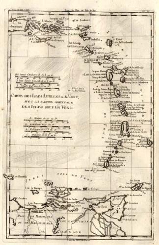 SOLD Carte des Antilles