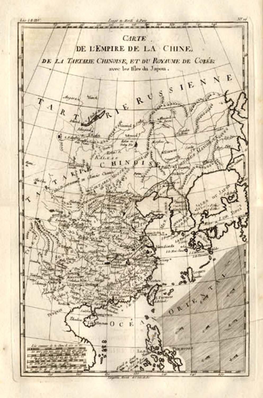 SOLD Carte de L'Empire de la Chine