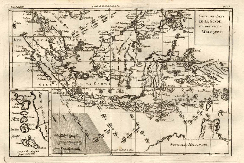 SOLD Carte des Isles de la Sonde et des Isles Moluques