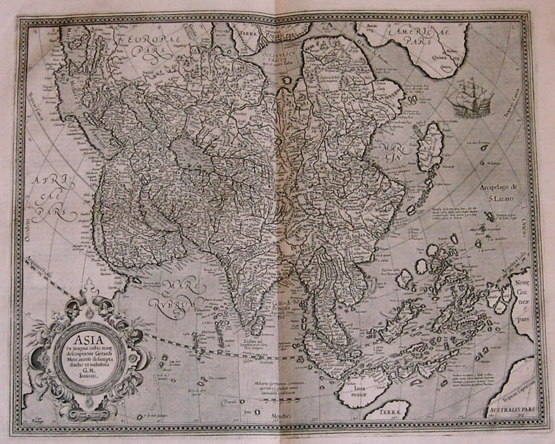 SOLD Asia ex magna Orbis terre descriptione Gerardi Mercatoris
