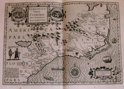 SOLD Virginiae item et Floridae Americae Provinciarum Nova Descriptio