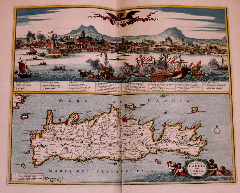 SOLD Candia [and] Insula Candia olim Creta