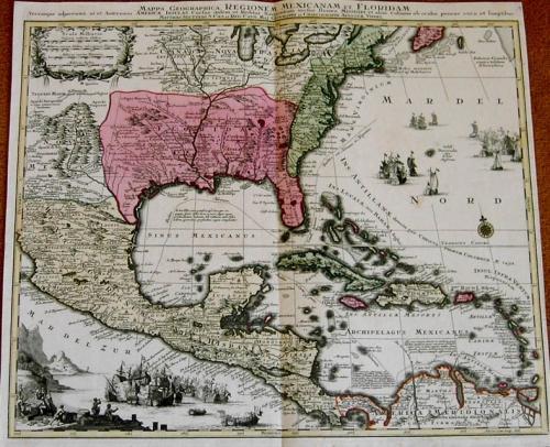 SOLD Mappa Geographica Regionem Mexicanam et Floridam Terrasque adjacentes. ...