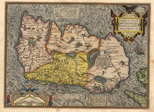 SOLD Eryn. Hiberniae Britannicae Insulae Nova Descriptio Irlandt