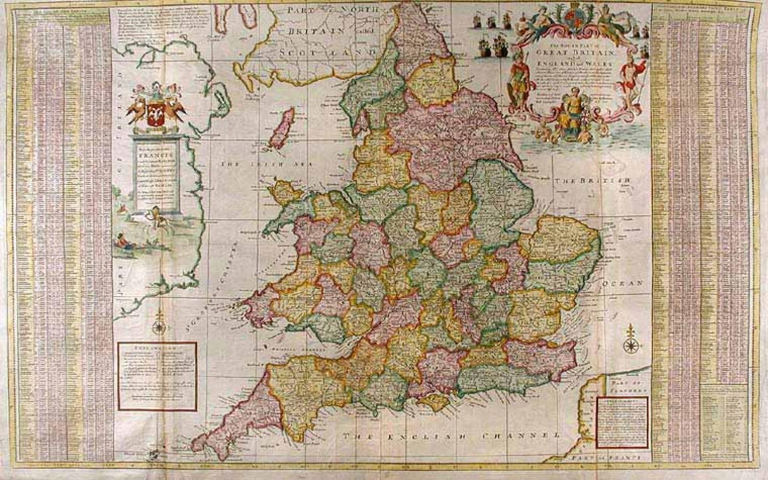 SOLD The South Part of Great Britain called England and Wales...