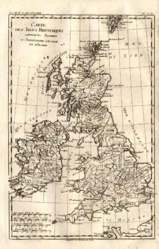 SOLD Carte des Isles Britanniques