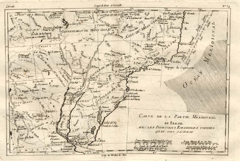 SOLD Carte de la partie meridionale du Bresil
