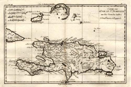 SOLD Carte de l'Isle de St Domingue