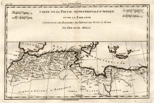 Bonne - Carte Partie septentrionale d'Afrique
