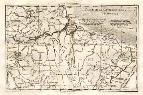 SOLD Carte de la partie septentrionale du Bresil