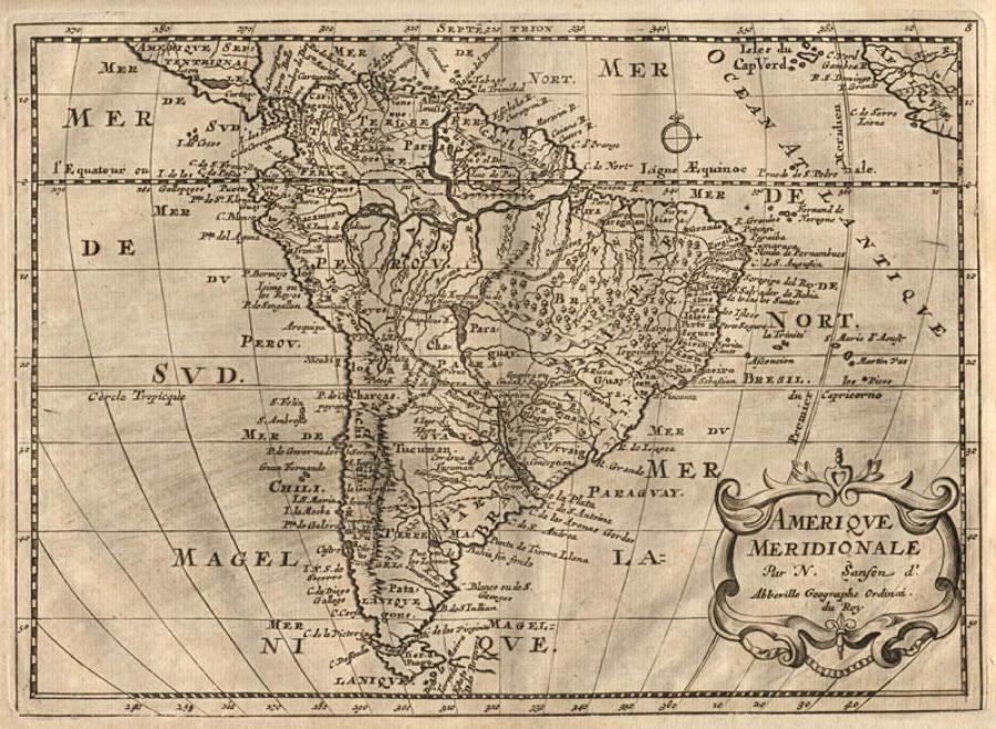 Sanson - Amerique Meridionale