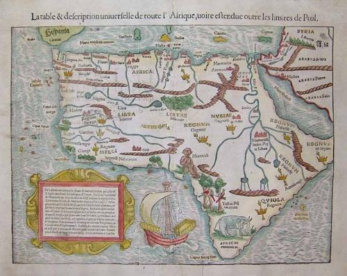 SOLD Totius Africae tabula et descriptio universalis...