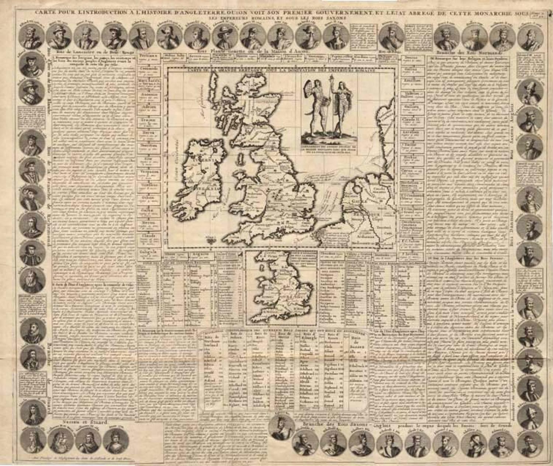 SOLD Carte pour l'introduction a l'Histoire d'Angleterre...