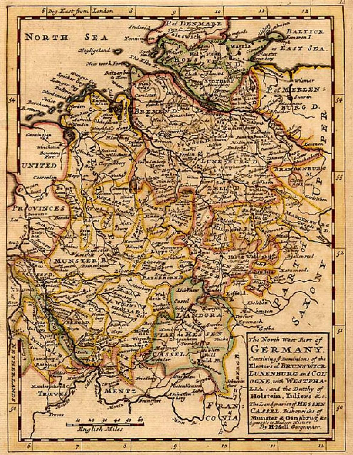 Map Of North West Germany.Sold The North West Part Of Germany In Antique Maps