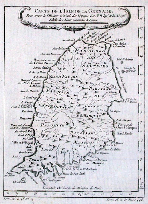 SOLD Carte De L'Isle de la Grenade
