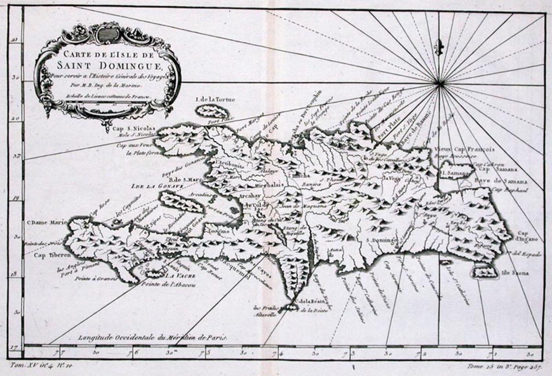 SOLD Carte De L'Isle de Saint Domingue...
