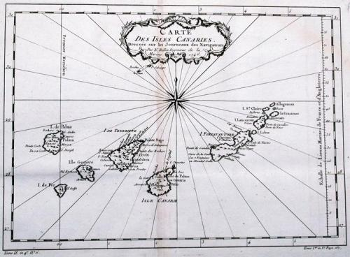 SOLD Carte Des Isles Canaries..