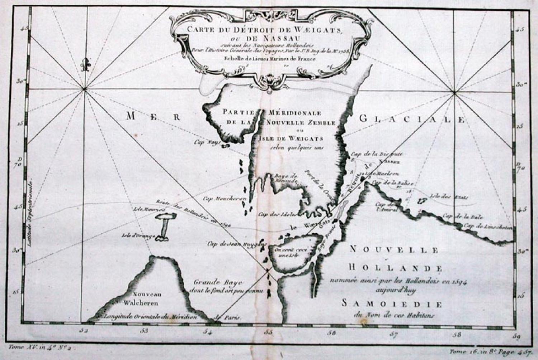 SOLD Carte du Detroit de Waeigats ...